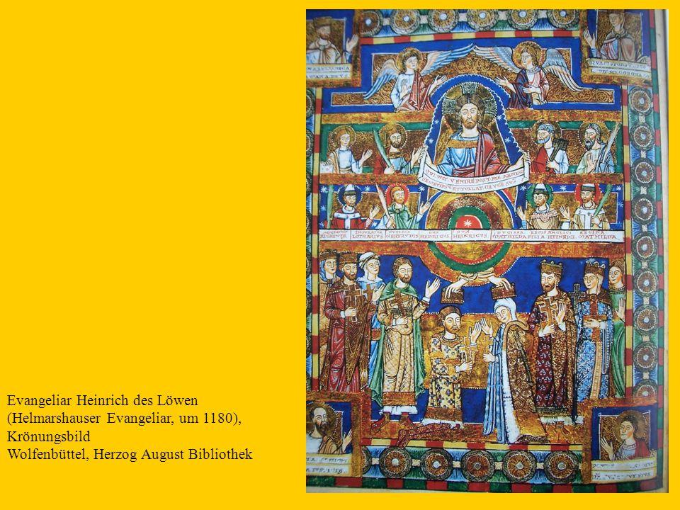 20 Evangeliar Heinrich des Löwen (Helmarshauser Evangeliar, um 1180), Krönungsbild Wolfenbüttel, Herzog August Bibliothek