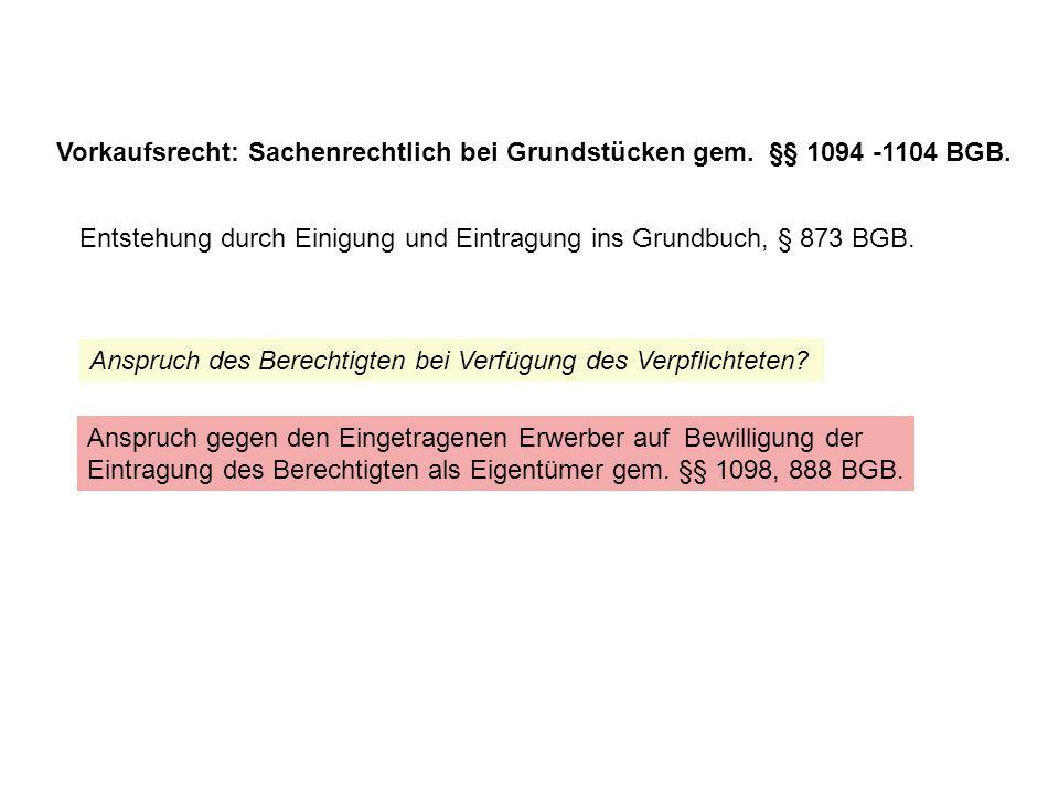 Kaufoption - BGH 29.9.95 NJW 1996, 52 = JuS 96, 359 = JA 1996, 353: B hatte von K ein Grundstück gemietet.