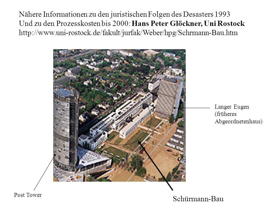 Nähere Informationen zu den juristischen Folgen des Desasters 1993 Und zu den Prozesskosten bis 2000: Hans Peter Glöckner, Uni Rostock http://www.uni-