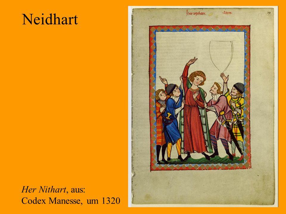 28 Neidhart Her Nithart, aus: Codex Manesse, um 1320