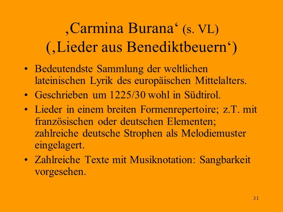 31 'Carmina Burana' (s.