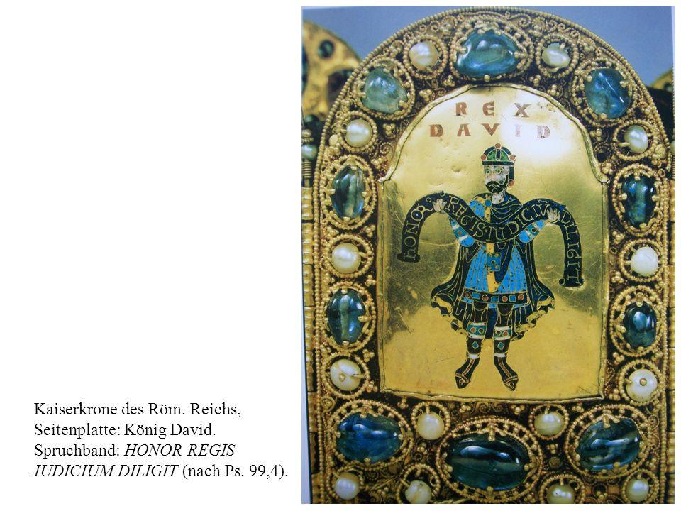 28 Kaiserkrone des Röm.Reichs, Seitenplatte: König David.