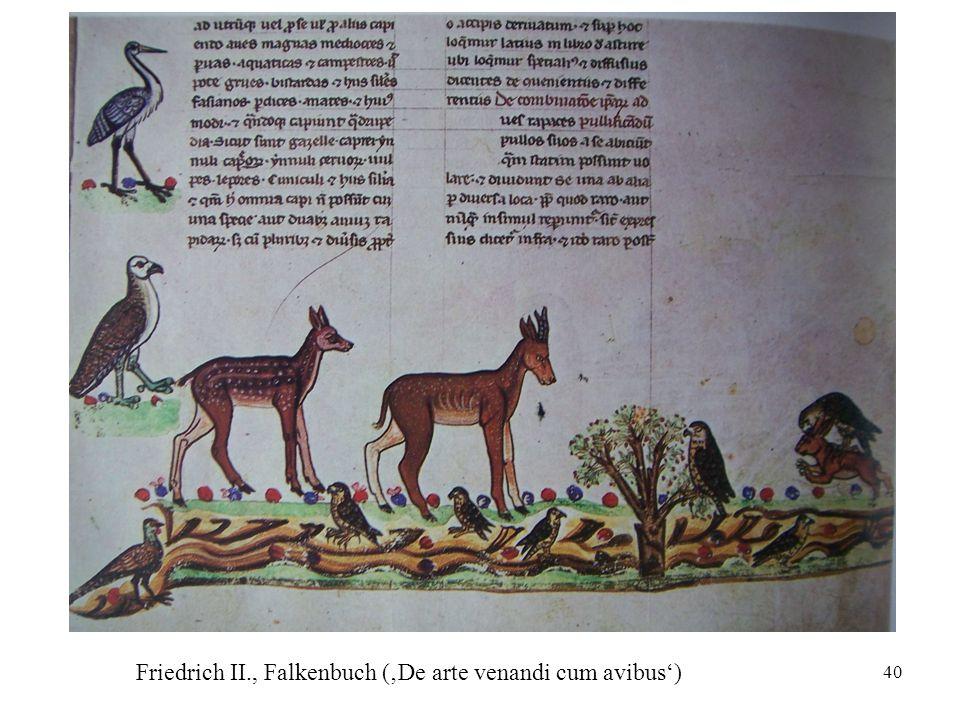 40 Friedrich II., Falkenbuch ('De arte venandi cum avibus')