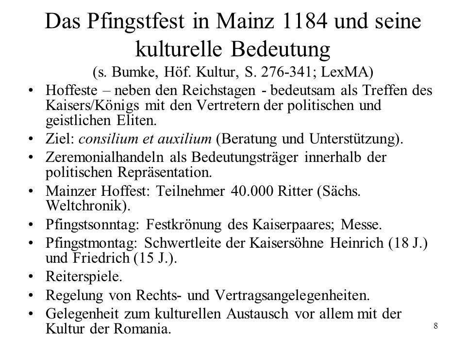 8 Das Pfingstfest in Mainz 1184 und seine kulturelle Bedeutung (s.