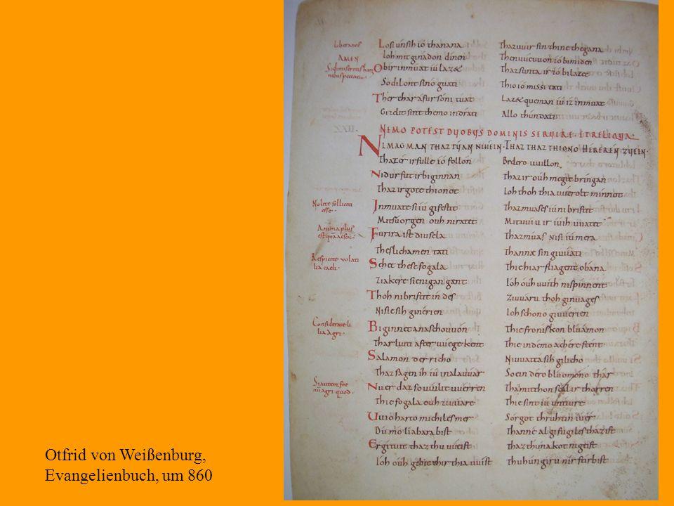 12 Otfrid von Weißenburg, Evangelienbuch, um 860