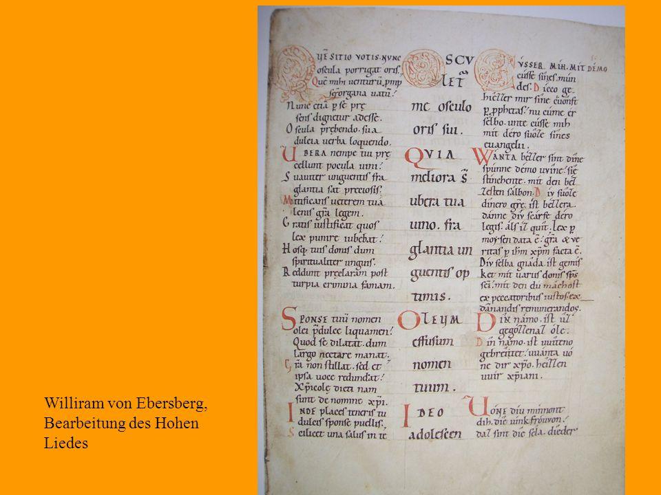 21 Williram von Ebersberg, Bearbeitung des Hohen Liedes