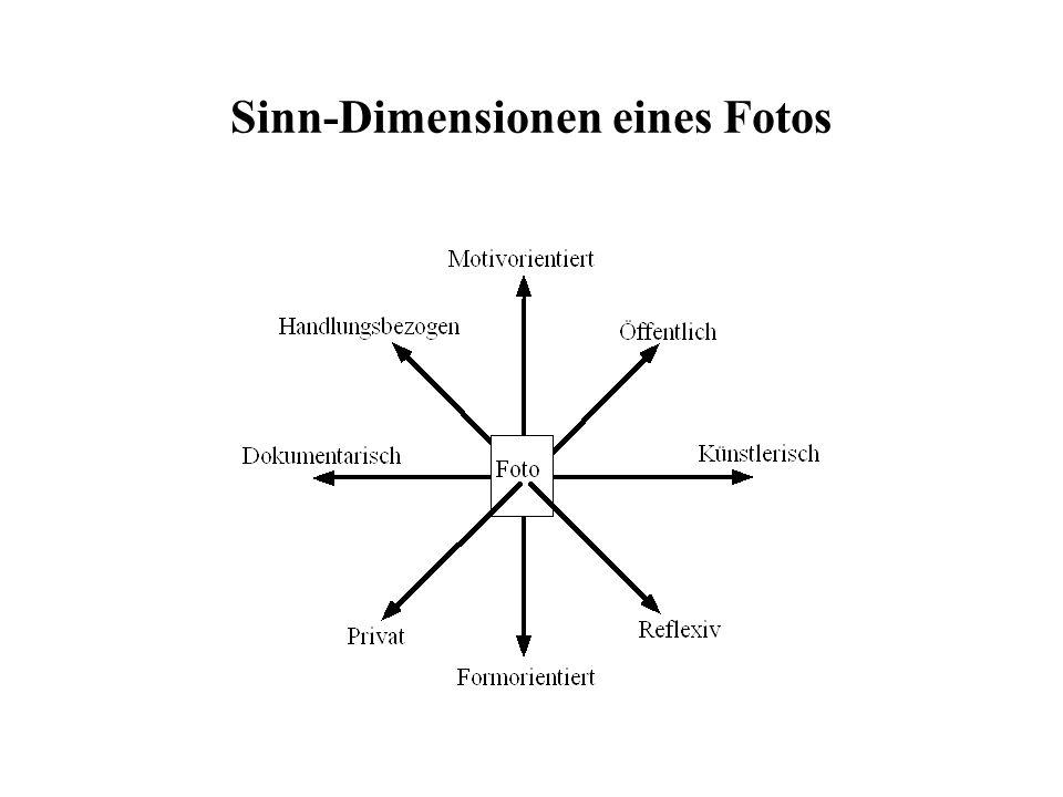 Sinn-Dimensionen eines Fotos