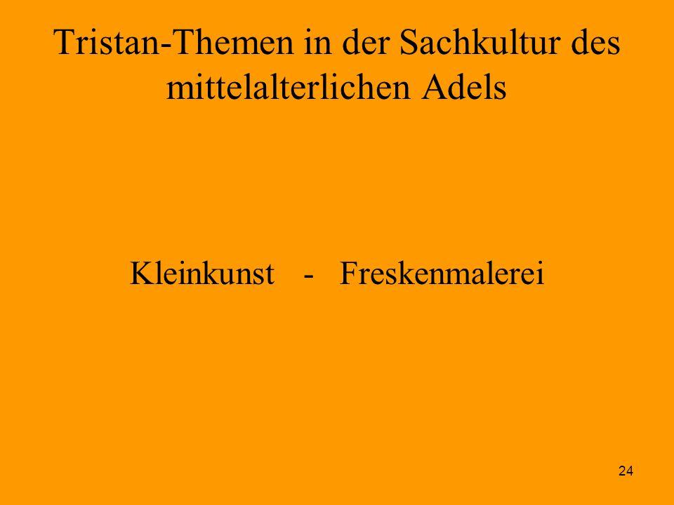 24 Tristan-Themen in der Sachkultur des mittelalterlichen Adels Kleinkunst - Freskenmalerei