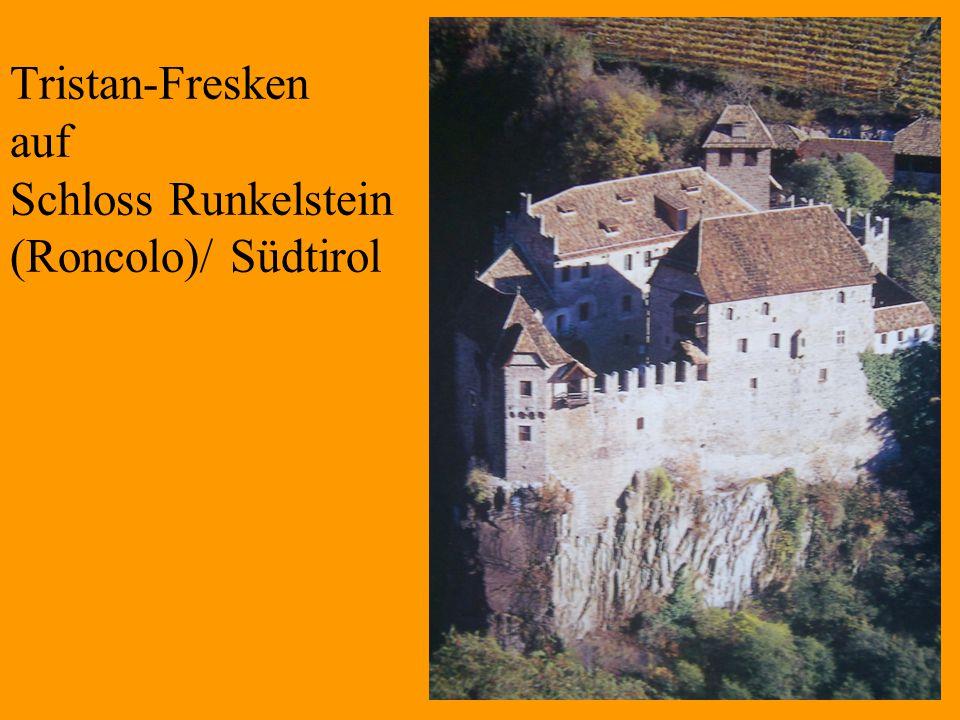27 Tristan-Fresken auf Schloss Runkelstein (Roncolo)/ Südtirol