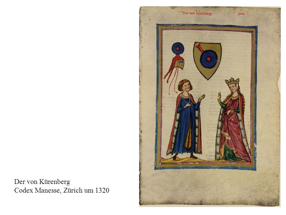 8 Der von Kürenberg Codex Manesse, Zürich um 1320