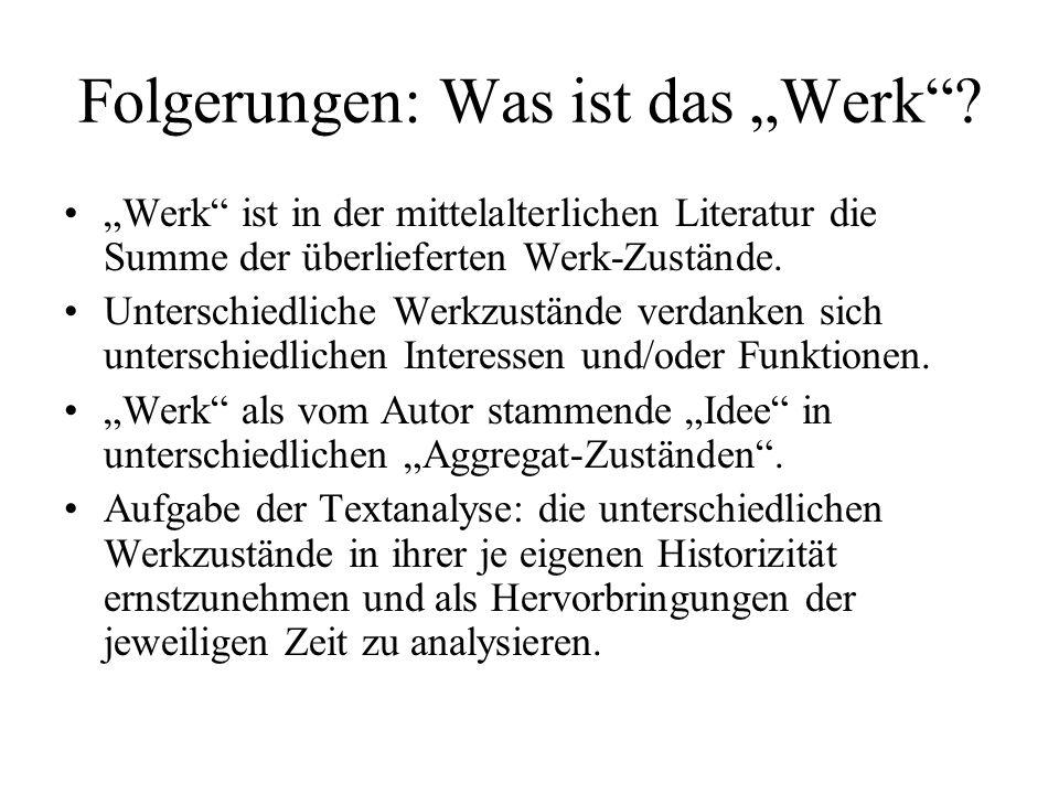 """Folgerungen: Was ist das """"Werk ."""