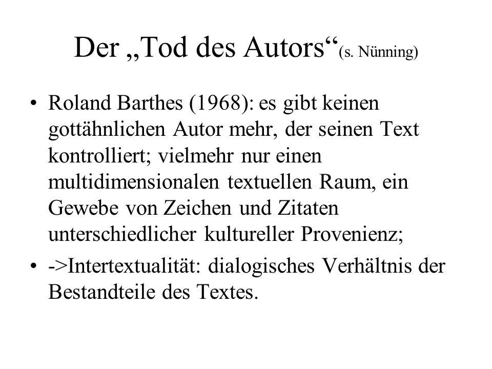 """Der """"Tod des Autors (s."""