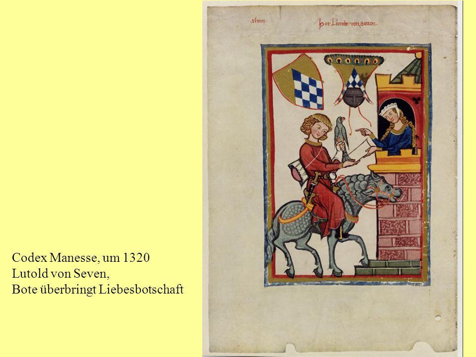 Codex Manesse, um 1320, Herr Walther von Teufen