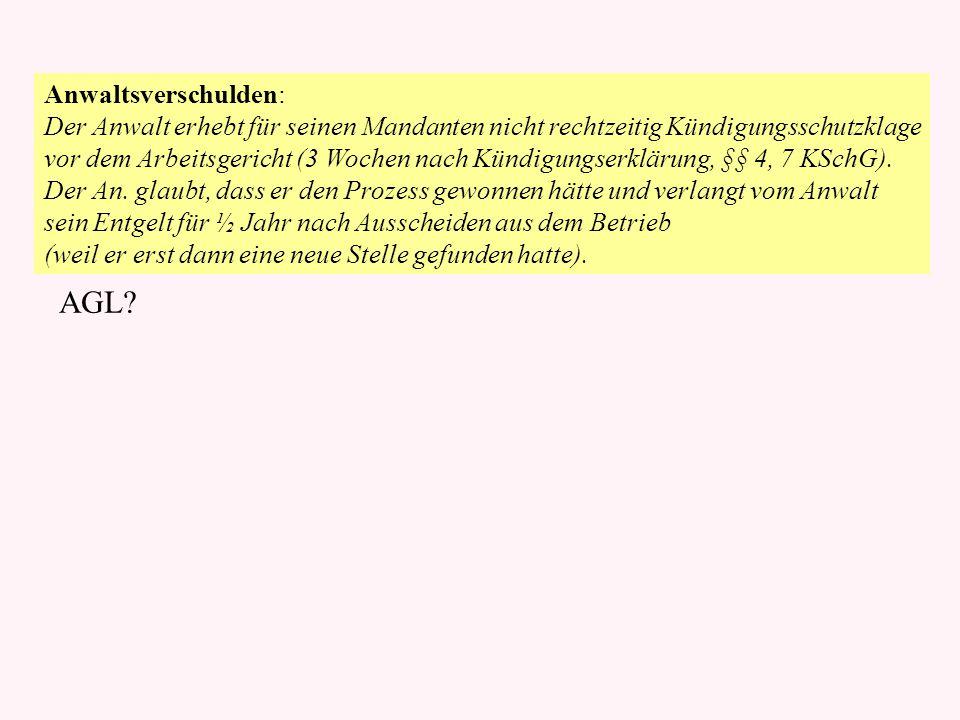 Kunde B Kfz-Werkstatt W Geselle S Fehlende Schraube: Frau Brohm bringt ihren Pkw zu dem Kraftfahrzeugmeister Warnke, um einen Motorschaden beheben zu lassen.