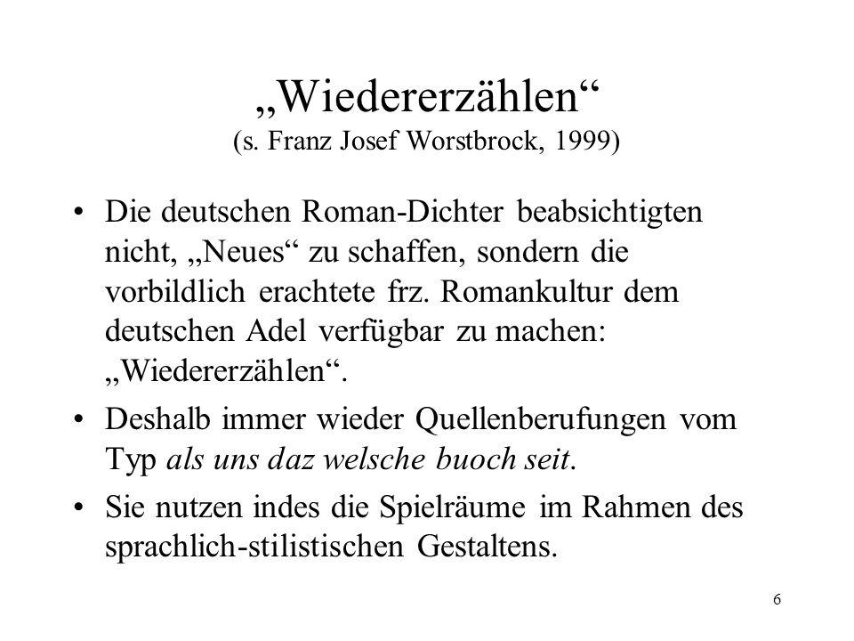 7 Heinrich von Veldeke (um 1150-1200) Heinrich von Veldeke, s.