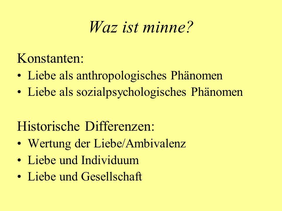 Liebe als Diskursthema um 1200 als Phänomen der (geistlichen) Brautmystik des 12.