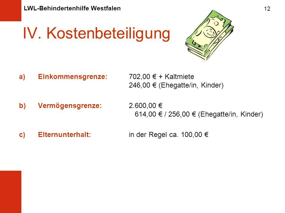LWL-Behindertenhilfe Westfalen 12 IV.
