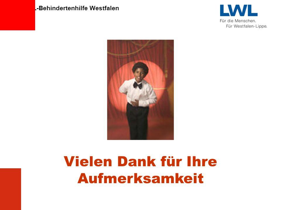 LWL-Behindertenhilfe Westfalen 13 Vielen Dank für Ihre Aufmerksamkeit