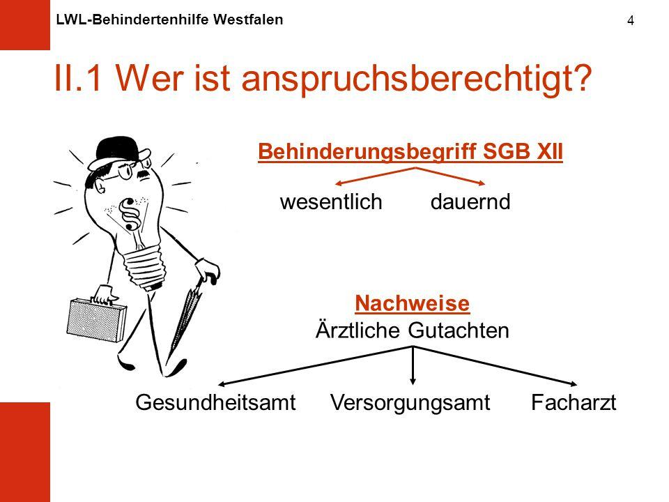 LWL-Behindertenhilfe Westfalen 4 II.1 Wer ist anspruchsberechtigt.