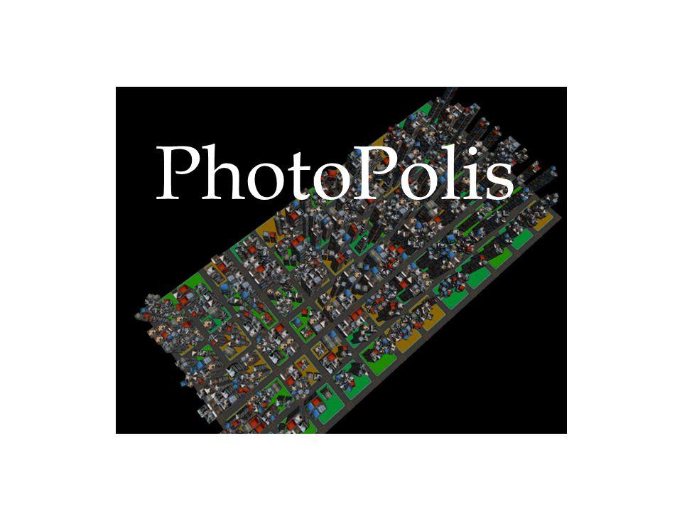 PhotoPolis ist ein Studentenprojekt im Rahmen des 3D Programmierpraktikums am Lehrstuhl Medieninformatik an der LMU München Betreuer: Dipl.-Medieninf.