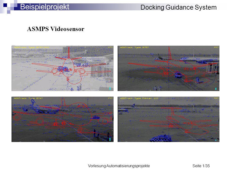 Vorlesung Automatisierungsprojekte Seite 1/35 ASMPS Videosensor Docking Guidance System Beispielprojekt