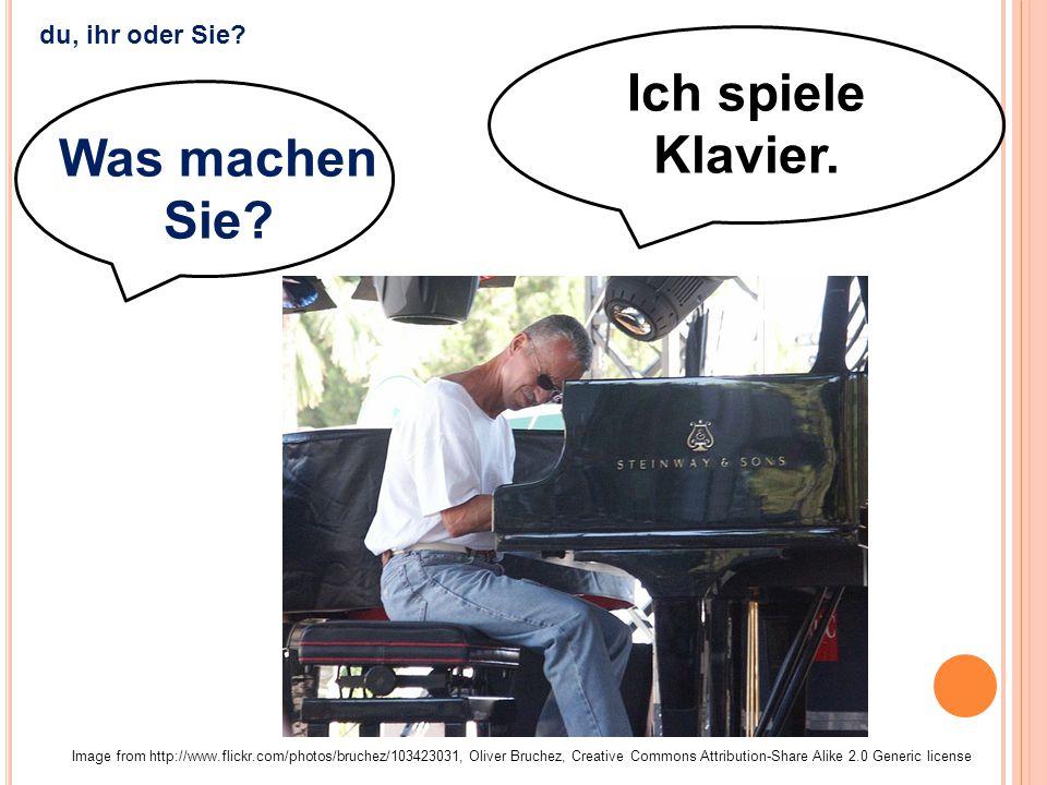 Ich spiele Klavier. Image from http://www.flickr.com/photos/bruchez/103423031, Oliver Bruchez, Creative Commons Attribution-Share Alike 2.0 Generic li