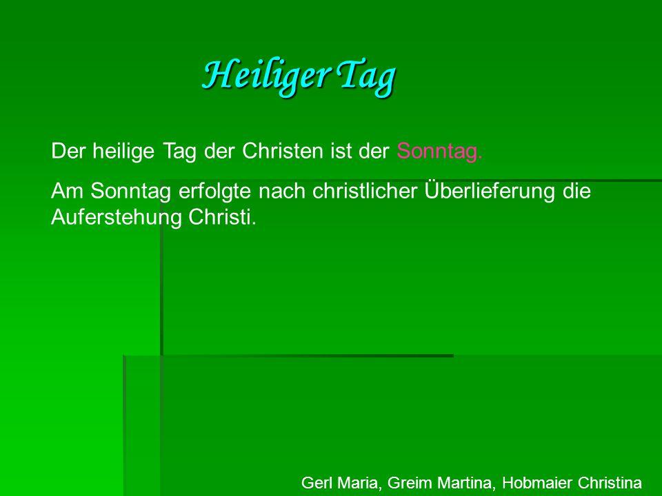 Gerl Maria, Greim Martina, Hobmaier Christina Dreifaltigkeit - Das Christentum kennt nur einen einzigen Gott.