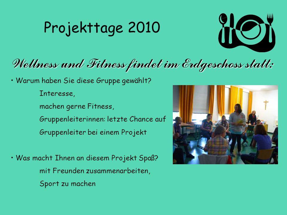 Wellness und Fitness findet im Erdgeschoss statt: Warum haben Sie diese Gruppe gewählt.