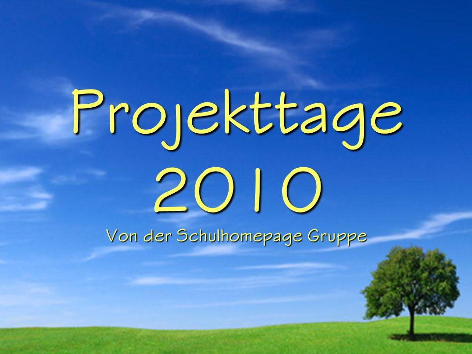Projekttage 2010 Von der Schulhomepage Gruppe