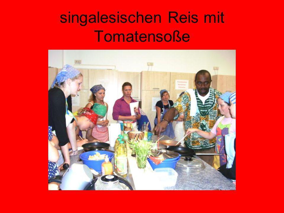 singalesischen Reis mit Tomatensoße