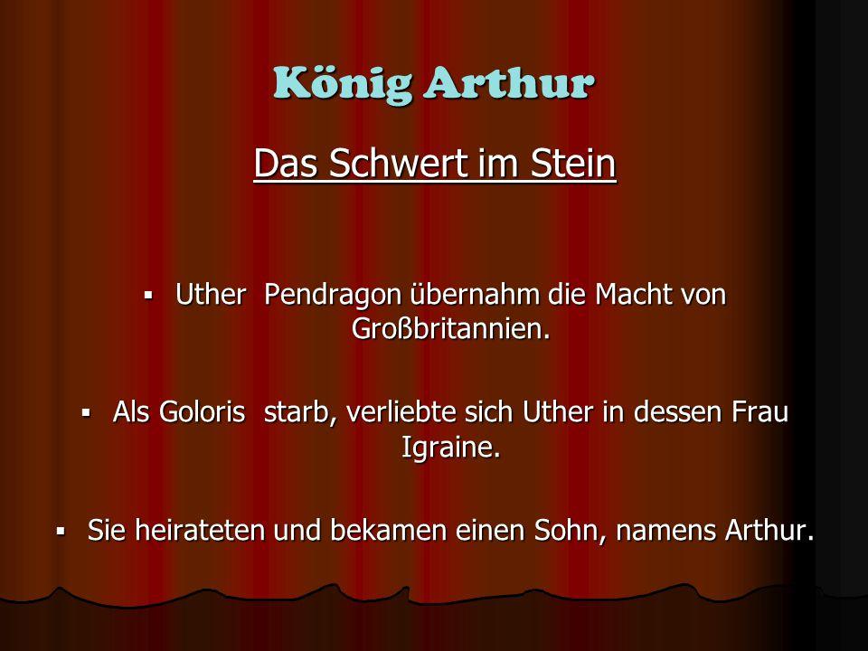 Arthurs Geburt Uther, Igraine und der Zauberer Merlin mit Arthur