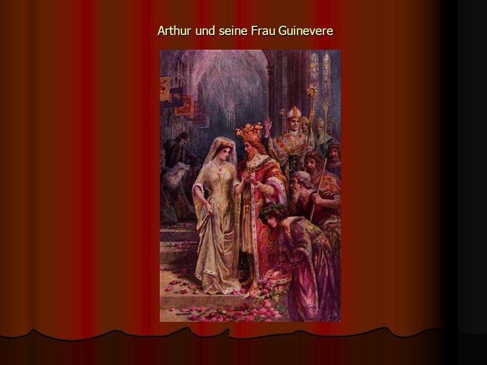 Arthur und seine Frau Guinevere