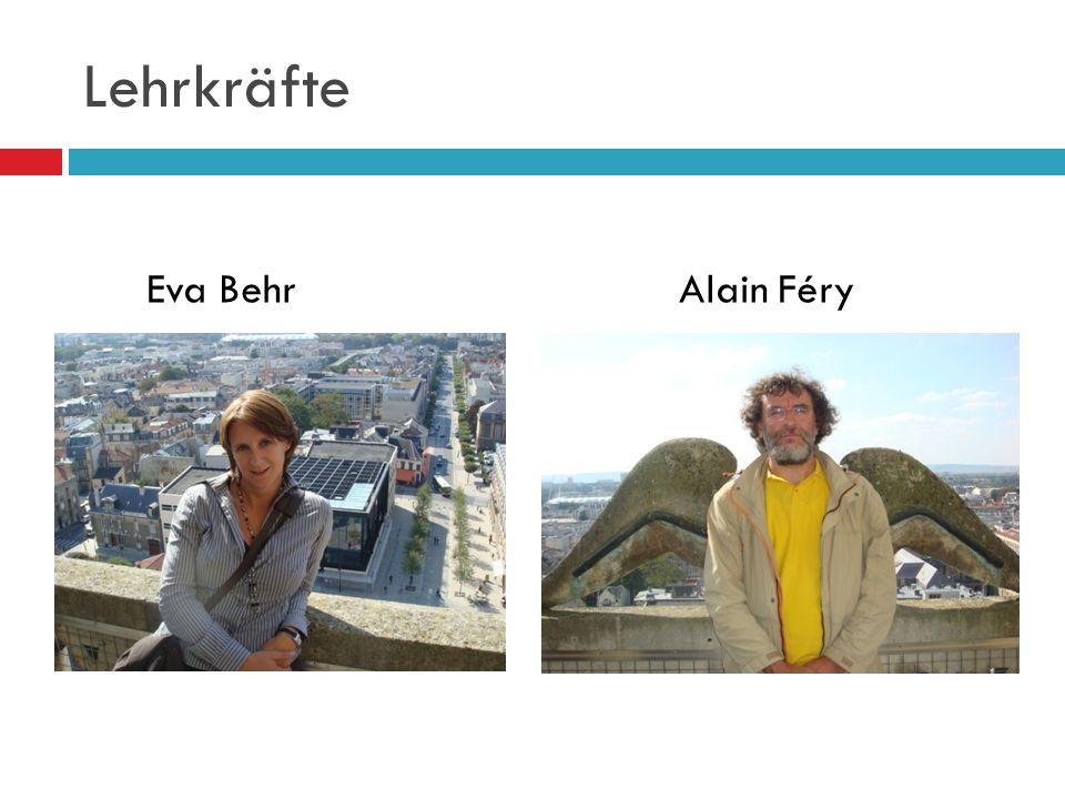 Lehrkräfte Eva Behr Alain Féry