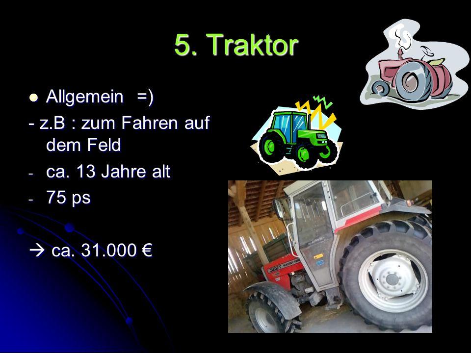 4. Mähwerk zum Mähen von Gras zum Mähen von Gras - nach dem Mähen wird das Gras mit dem Ladewagen transportiert und zu den Kühen gebracht. - ca. 16 Ja