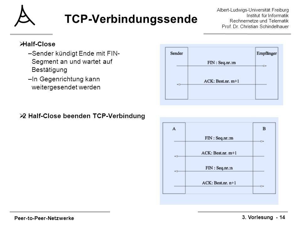 Peer-to-Peer-Netzwerke 3. Vorlesung - 14 Albert-Ludwigs-Universität Freiburg Institut für Informatik Rechnernetze und Telematik Prof. Dr. Christian Sc