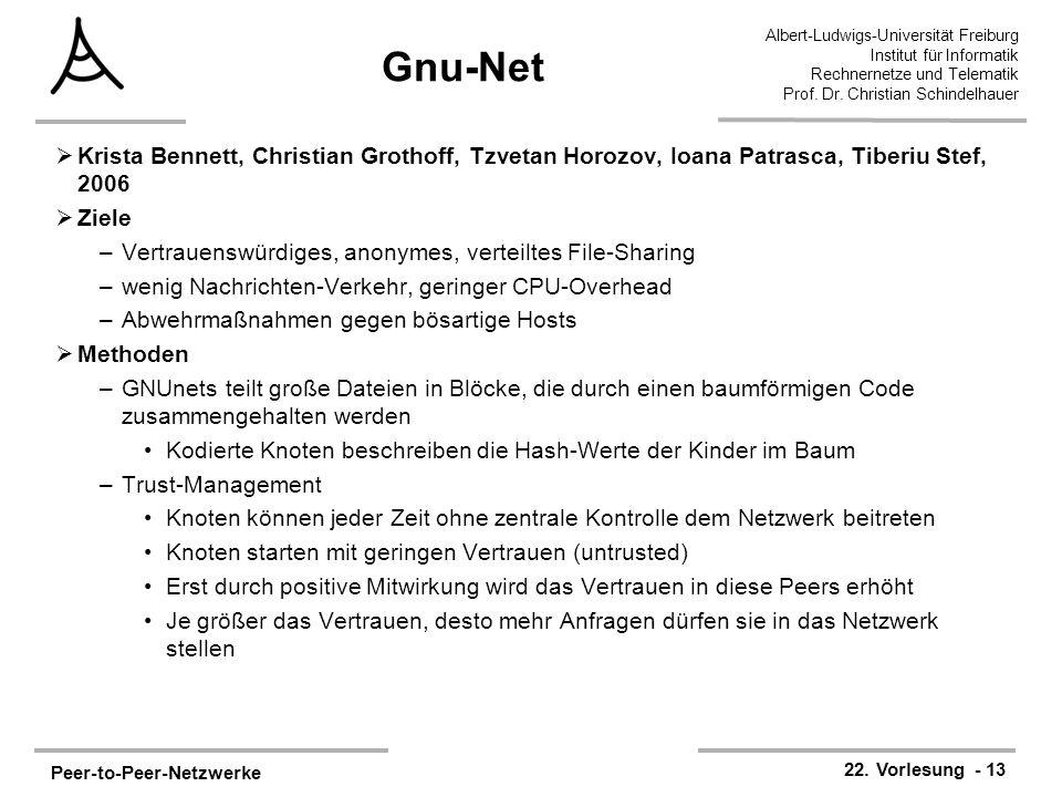 Peer-to-Peer-Netzwerke 22.