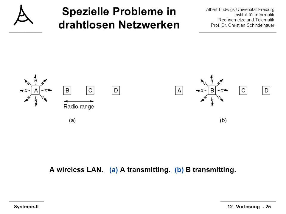 Albert-Ludwigs-Universität Freiburg Institut für Informatik Rechnernetze und Telematik Prof. Dr. Christian Schindelhauer Systeme-II12. Vorlesung - 25
