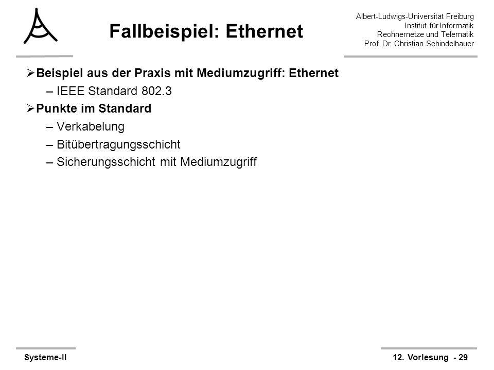 Albert-Ludwigs-Universität Freiburg Institut für Informatik Rechnernetze und Telematik Prof. Dr. Christian Schindelhauer Systeme-II12. Vorlesung - 29
