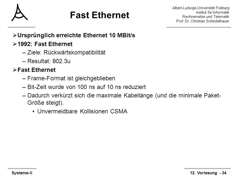 Albert-Ludwigs-Universität Freiburg Institut für Informatik Rechnernetze und Telematik Prof. Dr. Christian Schindelhauer Systeme-II12. Vorlesung - 34