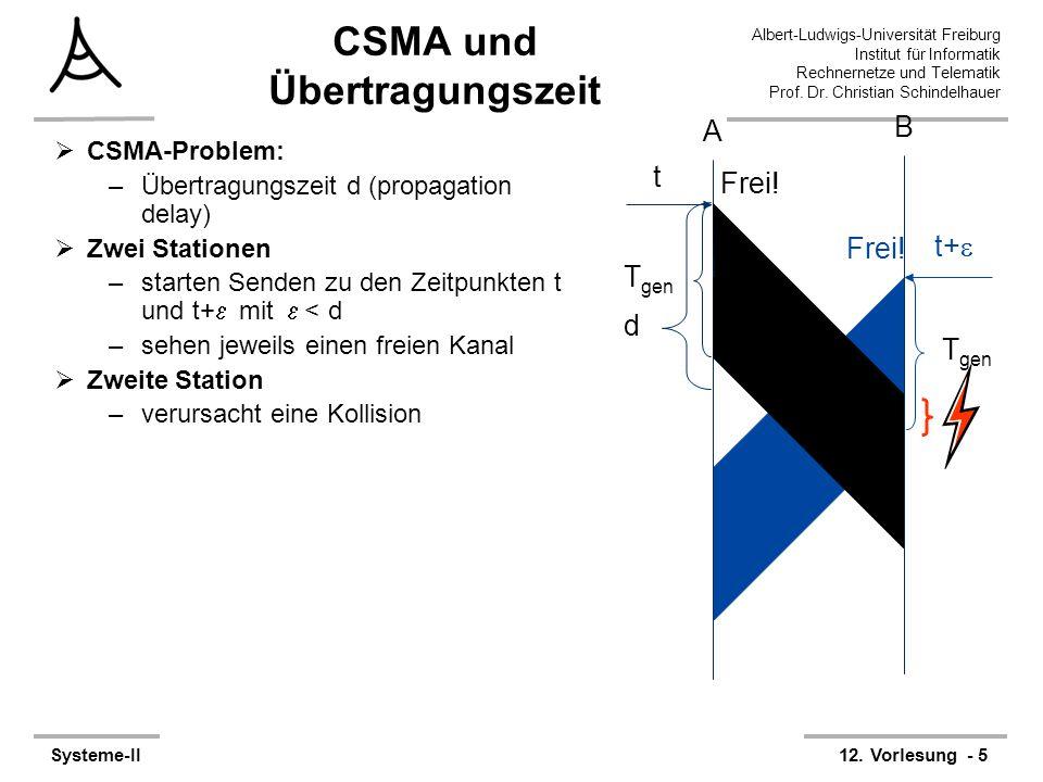 Albert-Ludwigs-Universität Freiburg Institut für Informatik Rechnernetze und Telematik Prof. Dr. Christian Schindelhauer Systeme-II12. Vorlesung - 5 C