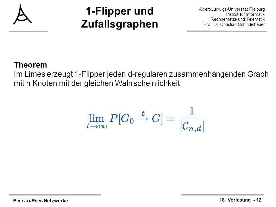 Peer-to-Peer-Netzwerke 18. Vorlesung - 12 Albert-Ludwigs-Universität Freiburg Institut für Informatik Rechnernetze und Telematik Prof. Dr. Christian S