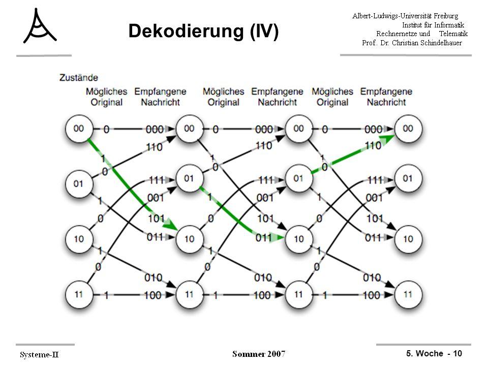 5. Woche - 10 Dekodierung (IV)