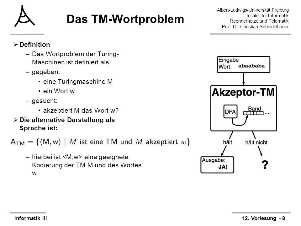 29 Albert-Ludwigs-Universität Freiburg Rechnernetze und Telematik Prof.