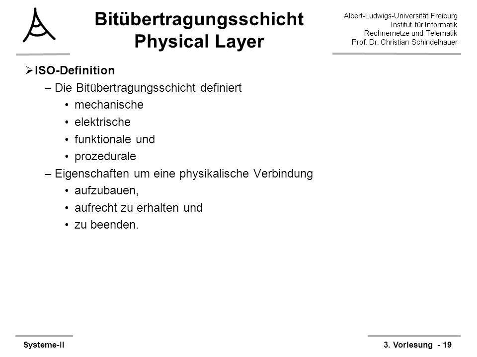 Albert-Ludwigs-Universität Freiburg Institut für Informatik Rechnernetze und Telematik Prof. Dr. Christian Schindelhauer Systeme-II3. Vorlesung - 19 B