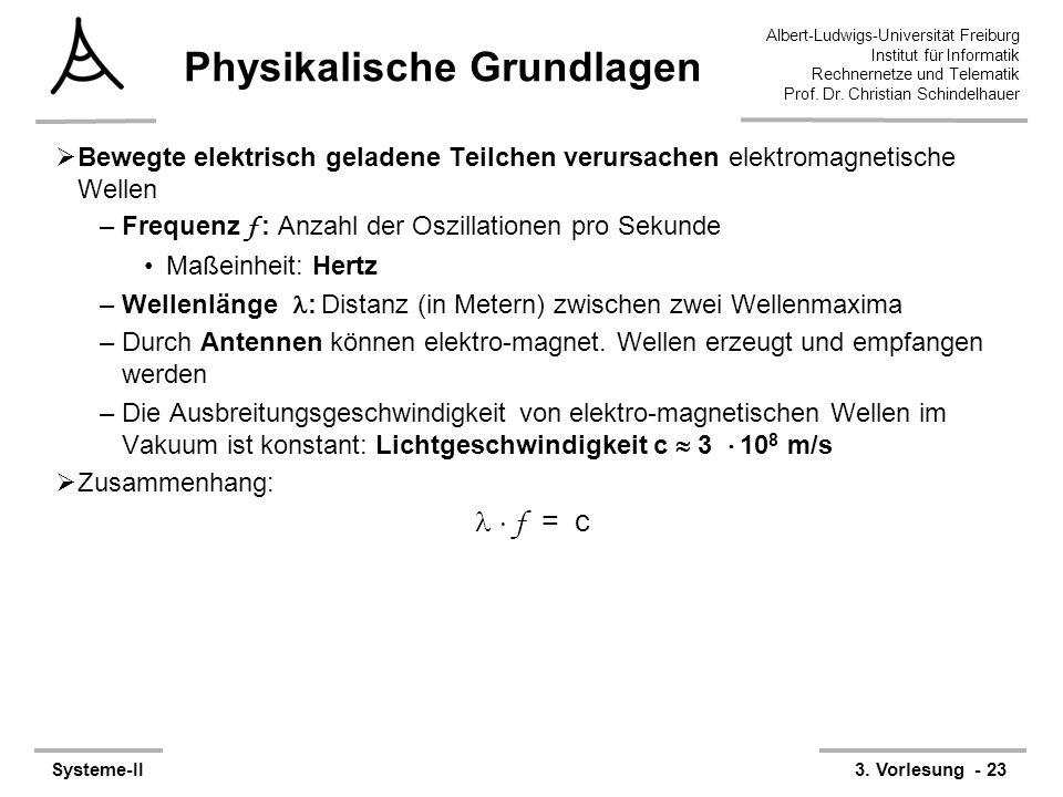 Albert-Ludwigs-Universität Freiburg Institut für Informatik Rechnernetze und Telematik Prof. Dr. Christian Schindelhauer Systeme-II3. Vorlesung - 23 P