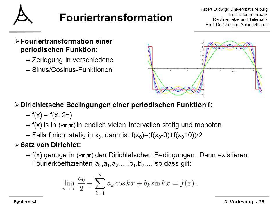 Albert-Ludwigs-Universität Freiburg Institut für Informatik Rechnernetze und Telematik Prof. Dr. Christian Schindelhauer Systeme-II3. Vorlesung - 25 F