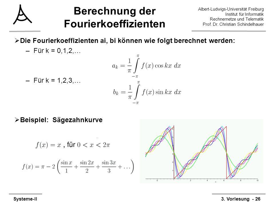Albert-Ludwigs-Universität Freiburg Institut für Informatik Rechnernetze und Telematik Prof. Dr. Christian Schindelhauer Systeme-II3. Vorlesung - 26 B