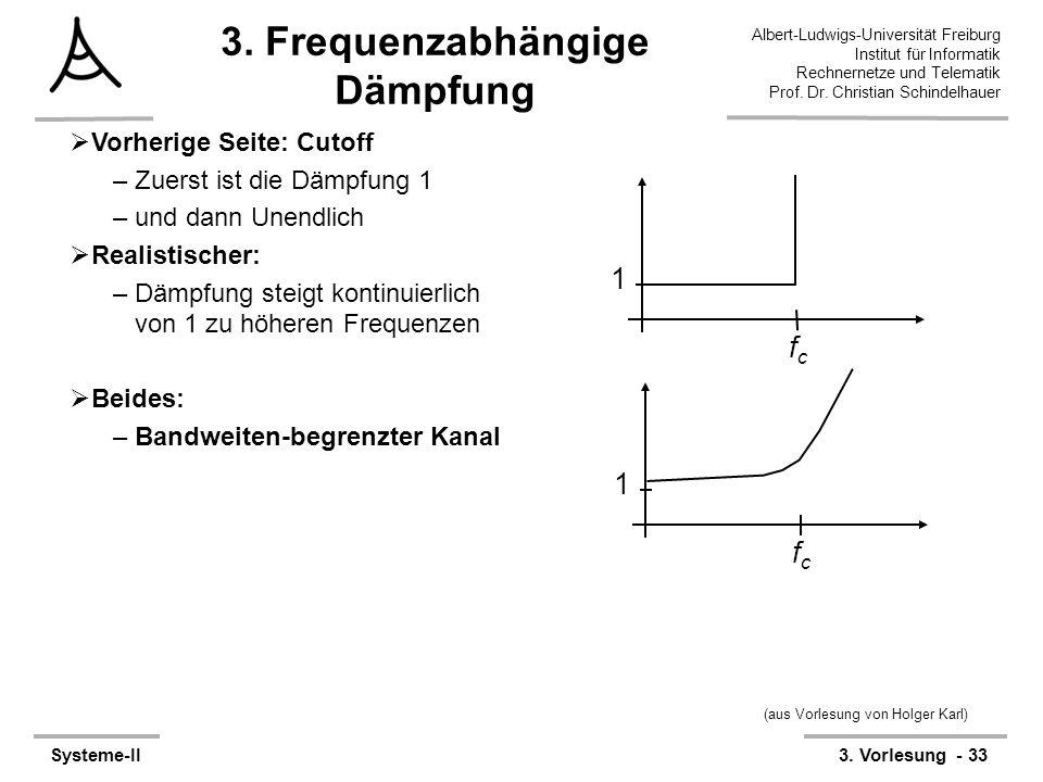 Albert-Ludwigs-Universität Freiburg Institut für Informatik Rechnernetze und Telematik Prof. Dr. Christian Schindelhauer Systeme-II3. Vorlesung - 33 