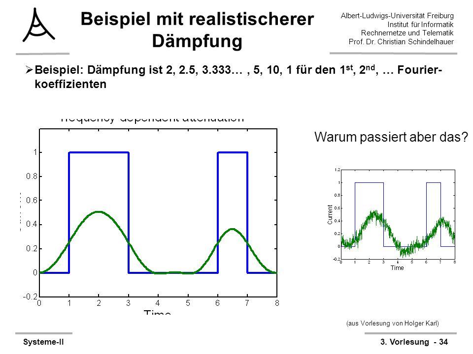 Albert-Ludwigs-Universität Freiburg Institut für Informatik Rechnernetze und Telematik Prof. Dr. Christian Schindelhauer Systeme-II3. Vorlesung - 34 B