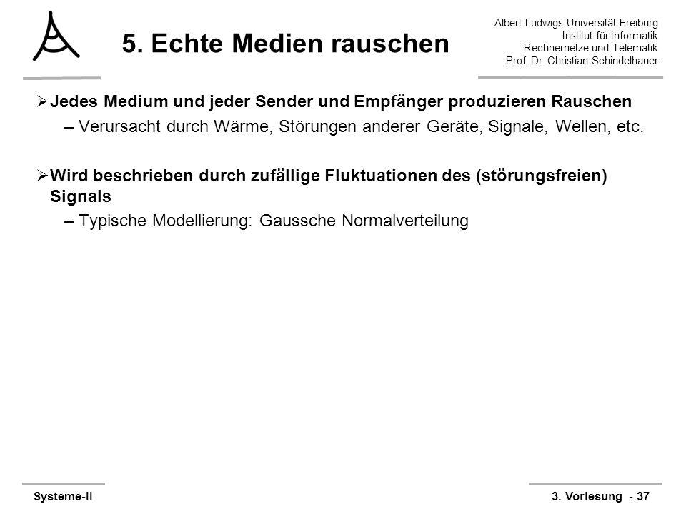 Albert-Ludwigs-Universität Freiburg Institut für Informatik Rechnernetze und Telematik Prof. Dr. Christian Schindelhauer Systeme-II3. Vorlesung - 37 5